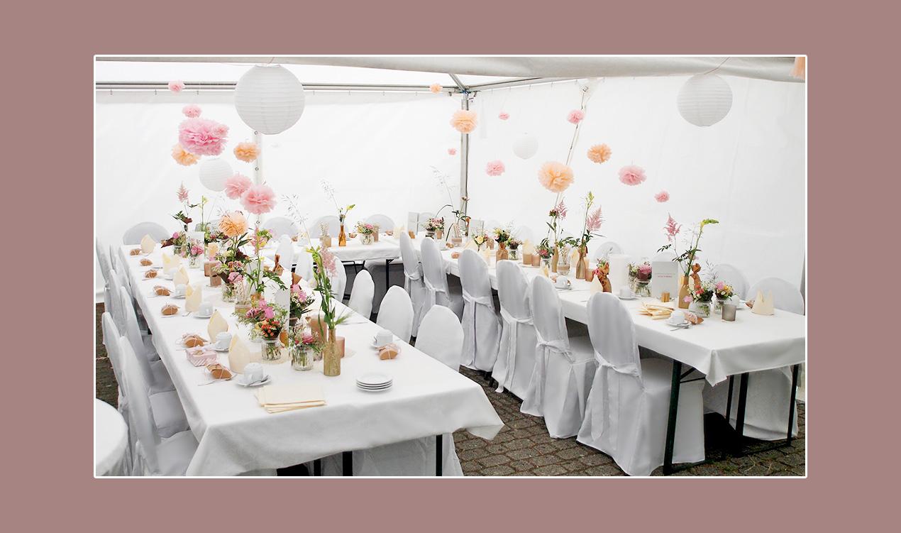 Zelt-Hochzeit-Deko